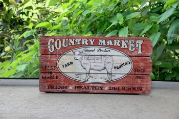 Cartel Country Market 58 x 29 cm