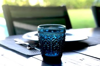 Vaso Alabama Azul